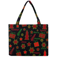 Red And Green Xmas Pattern Mini Tote Bag