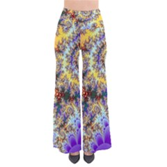 Desert Winds, Abstract Gold Purple Cactus  Pants by DianeClancy