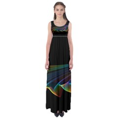 Flowing Fabric Of Rainbow Light, Abstract  Empire Waist Maxi Dress by DianeClancy