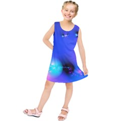 Love In Action, Pink, Purple, Blue Heartbeat 10000x7500 Kids  Tunic Dress