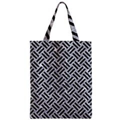 Woven2 Black Marble & Gray Marble (r) Zipper Classic Tote Bag by trendistuff