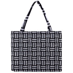 Woven1 Black Marble & Gray Marble Mini Tote Bag by trendistuff
