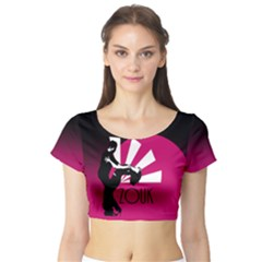 Zouk   Forget The Time Short Sleeve Crop Top by LetsDanceHaveFun