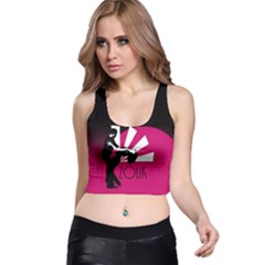 Zouk   Forget The Time Racer Back Crop Tops by LetsDanceHaveFun