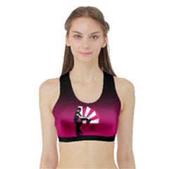 Zouk   Forget The Time Women s Sports Bra With Border by LetsDanceHaveFun
