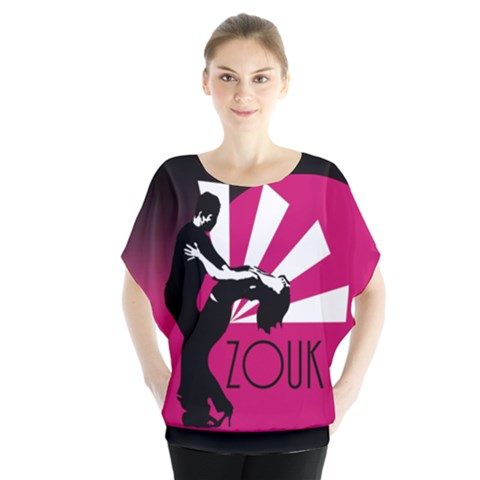 Zouk - Forget The Time Batwing Chiffon Blouse by LetsDanceHaveFun
