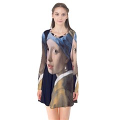 Girl With A Pearl Earring Flare Dress