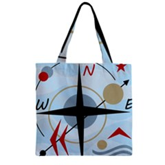 Compass Zipper Grocery Tote Bag by Valentinaart