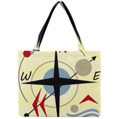 Compass 3 Mini Tote Bag by Valentinaart