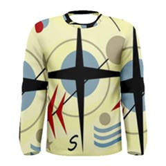 Compass 3 Men s Long Sleeve Tee by Valentinaart
