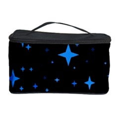 Bright Blue  Stars In Space Cosmetic Storage Case by Costasonlineshop