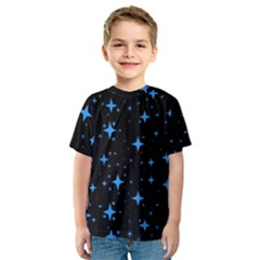 Bright Blue  Stars In Space Kids  Sport Mesh Tee by Costasonlineshop