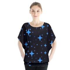 Bright Blue  Stars In Space Blouse by Costasonlineshop