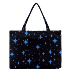 Bright Blue  Stars In Space Medium Tote Bag by Costasonlineshop