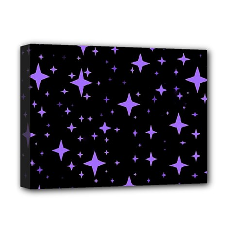 Bright Purple   Stars In Space Deluxe Canvas 16  X 12   by Costasonlineshop