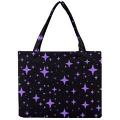 Bright Purple   Stars In Space Mini Tote Bag by Costasonlineshop