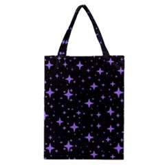 Bright Purple   Stars In Space Classic Tote Bag by Costasonlineshop