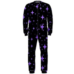 Bright Purple   Stars In Space Onepiece Jumpsuit (men)  by Costasonlineshop
