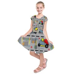 Toy Cars Kids  Short Sleeve Dress
