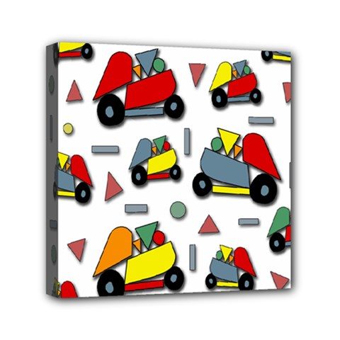 Toy Cars Pattern Mini Canvas 6  X 6  by Valentinaart
