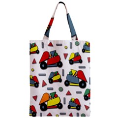 Toy Cars Pattern Zipper Classic Tote Bag by Valentinaart