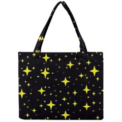 Bright Yellow   Stars In Space Mini Tote Bag by Costasonlineshop