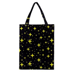 Bright Yellow   Stars In Space Classic Tote Bag by Costasonlineshop