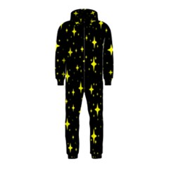 Bright Yellow   Stars In Space Hooded Jumpsuit (kids) by Costasonlineshop