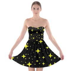 Bright Yellow   Stars In Space Strapless Bra Top Dress by Costasonlineshop
