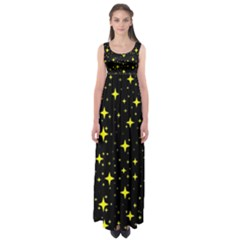 Bright Yellow   Stars In Space Empire Waist Maxi Dress by Costasonlineshop