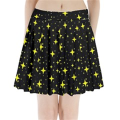 Bright Yellow   Stars In Space Pleated Mini Skirt by Costasonlineshop