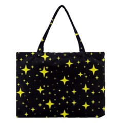 Bright Yellow   Stars In Space Medium Tote Bag by Costasonlineshop