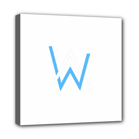 Alan Walker  Logo Mini Canvas 8  X 8  by bhazkaragriz