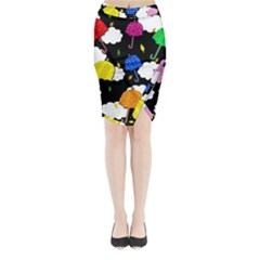 Umbrellas 2 Midi Wrap Pencil Skirt by Valentinaart