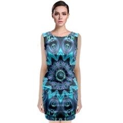 Star Connection, Abstract Cosmic Constellation Classic Sleeveless Midi Dress