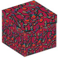 Red Floral Pattern Storage Stool 12