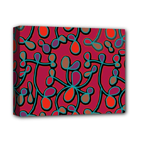 Red Floral Pattern Deluxe Canvas 14  X 11  by Valentinaart