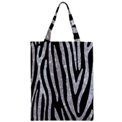 Skin4 Black Marble & Gray Marble (r) Zipper Classic Tote Bag by trendistuff