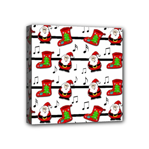Xmas Song Pattern Mini Canvas 4  X 4  by Valentinaart