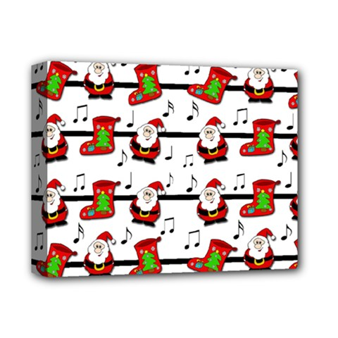 Xmas Song Pattern Deluxe Canvas 14  X 11  by Valentinaart