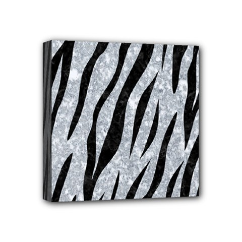 Skin3 Black Marble & Gray Marble (r) Mini Canvas 4  X 4  (stretched) by trendistuff