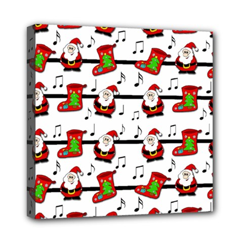 Xmas Song Pattern Mini Canvas 8  X 8  by Valentinaart