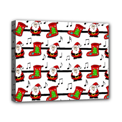 Xmas Song Pattern Canvas 10  X 8  by Valentinaart