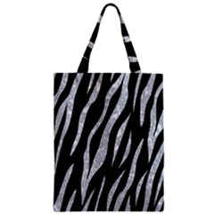 Skin3 Black Marble & Gray Marble Zipper Classic Tote Bag by trendistuff
