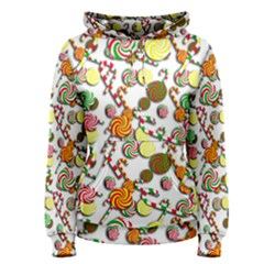 Xmas Candy Pattern Women s Pullover Hoodie