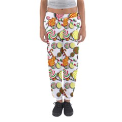 Xmas Candy Pattern Women s Jogger Sweatpants by Valentinaart