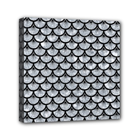 Scales3 Black Marble & Gray Marble (r) Mini Canvas 6  X 6  (stretched) by trendistuff