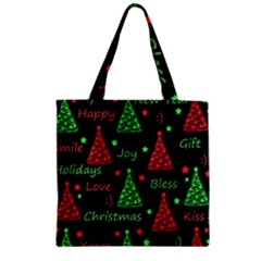 New Year Pattern   Red And Green Zipper Grocery Tote Bag by Valentinaart