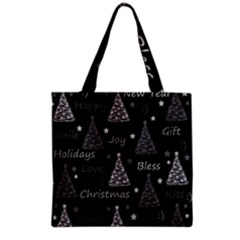 New Year Pattern   Gray Grocery Tote Bag by Valentinaart