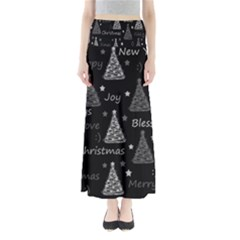 New Year Pattern   Gray Maxi Skirts by Valentinaart